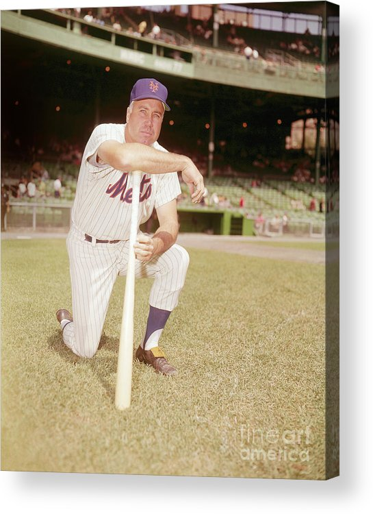 Duke Snider Acrylic Print featuring the photograph Duke Snider by Louis Requena