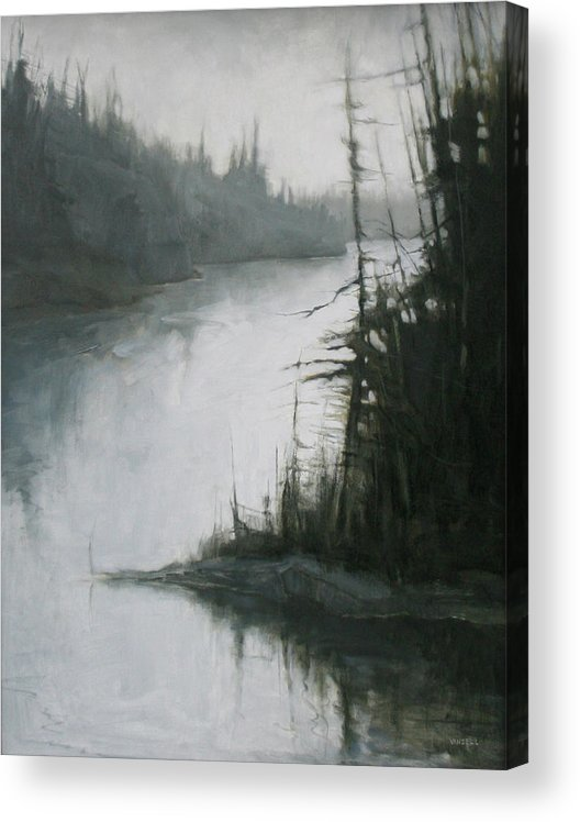 Acrylic Print featuring the painting Echoes by Mary Jo Van Dell
