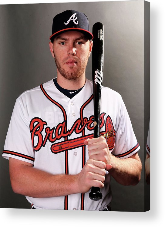 Media Day Acrylic Print featuring the photograph Freddie Freeman by Elsa
