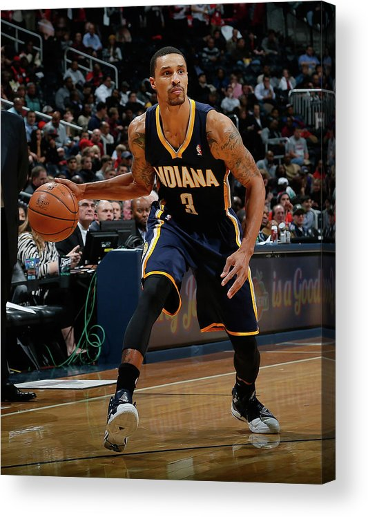 Atlanta Acrylic Print featuring the photograph George Hill by Kevin C. Cox