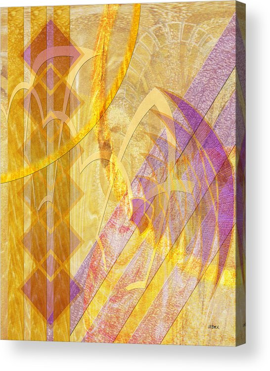 Gold Fusion Acrylic Print featuring the digital art Gold Fusion by John Robert Beck