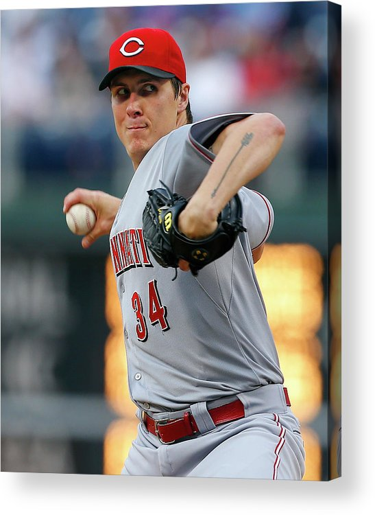 Second Inning Acrylic Print featuring the photograph Homer Bailey by Rich Schultz