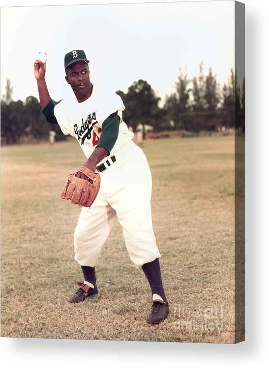 People Acrylic Print featuring the photograph Jackie Robinson by Kidwiler Collection