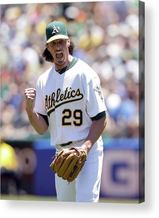 Double Play Acrylic Print featuring the photograph Jeff Samardzija by Ezra Shaw