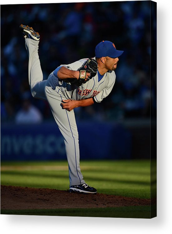Ball Acrylic Print featuring the photograph Johan Santana by Jonathan Daniel