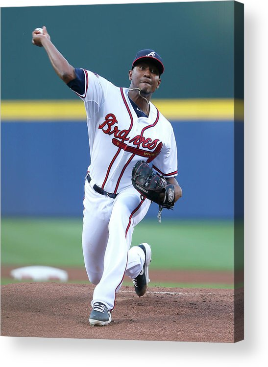 Atlanta Acrylic Print featuring the photograph Julio Teheran by Kevin C. Cox