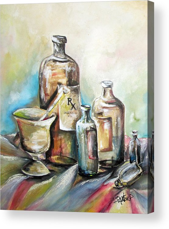 Pharmaceuticals Acrylic Print featuring the painting Kindered Spirits SOLD by Amanda Sanford