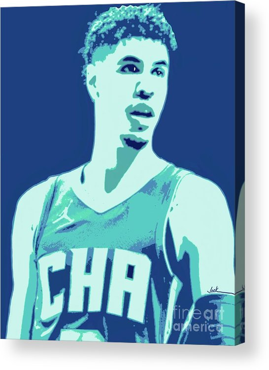 Lamelo Acrylic Print featuring the painting LaMelo Ball by Jack Bunds