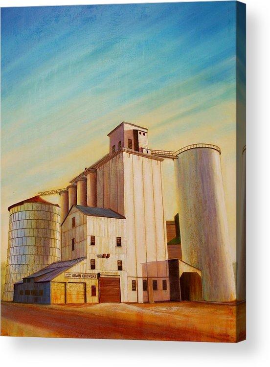Grain Acrylic Print featuring the painting Latah County Grain Growers by Leonard Heid