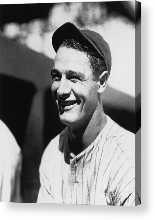 People Acrylic Print featuring the photograph Lou Gehrig by National Baseball Hall Of Fame Library