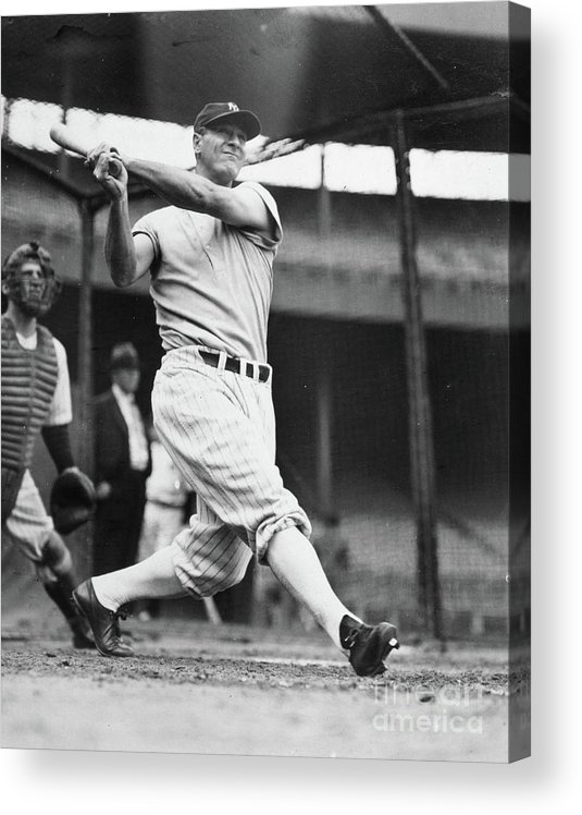 1930-1939 Acrylic Print featuring the photograph Lou Gehrig by Transcendental Graphics