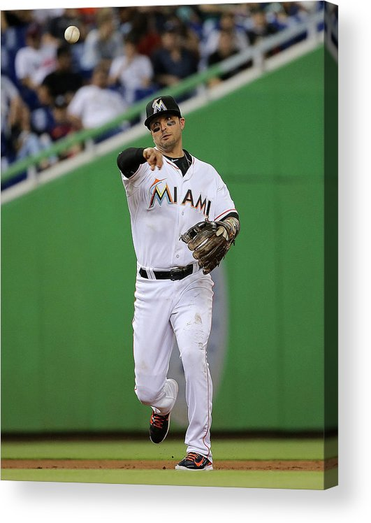 People Acrylic Print featuring the photograph Martin Prado by Mike Ehrmann