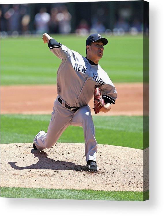 American League Baseball Acrylic Print featuring the photograph Masahiro Tanaka by Jonathan Daniel