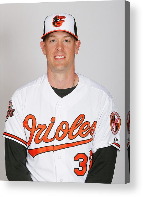 Media Day Acrylic Print featuring the photograph Matt Wieters by Kevin C. Cox