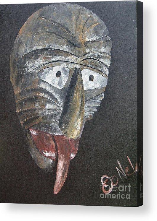 Tribal Acrylic Print featuring the painting Medicine Man by JoNeL Art