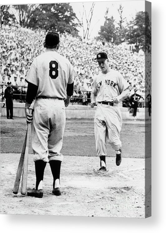 American League Baseball Acrylic Print featuring the photograph Mickey Mantle by National Baseball Hall Of Fame Library