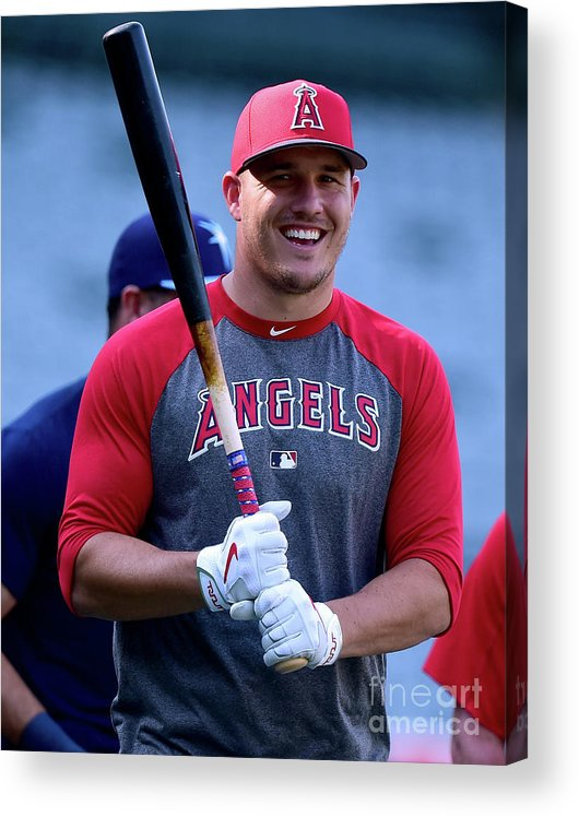 People Acrylic Print featuring the photograph Mike Trout by Harry How