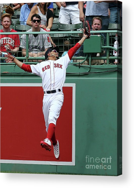 People Acrylic Print featuring the photograph Mitch Haniger and Mookie Betts by Jim Rogash