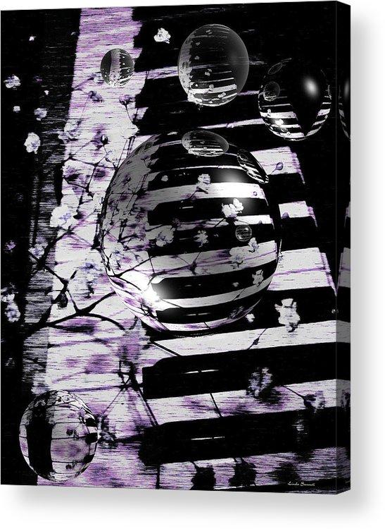 Piano Art Acrylic Print featuring the photograph Music World by Linda Sannuti