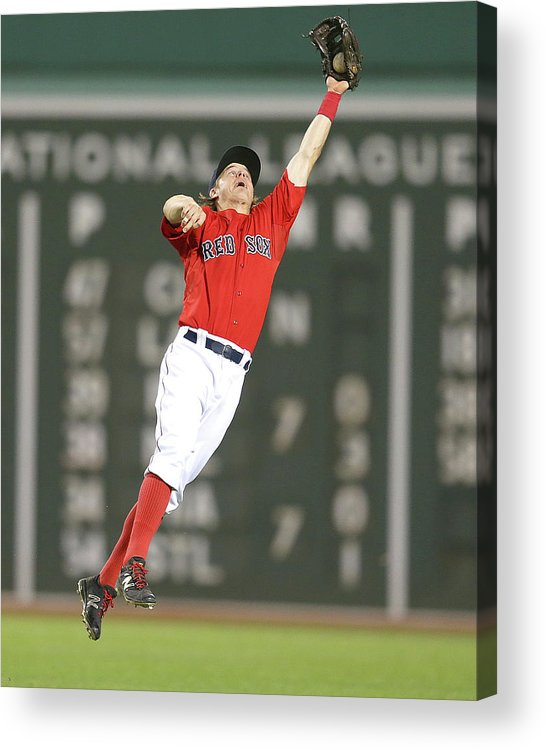 People Acrylic Print featuring the photograph Nelson Cruz and Brock Holt by Jim Rogash