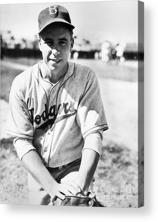 People Acrylic Print featuring the photograph Pee Wee Reese by National Baseball Hall Of Fame Library