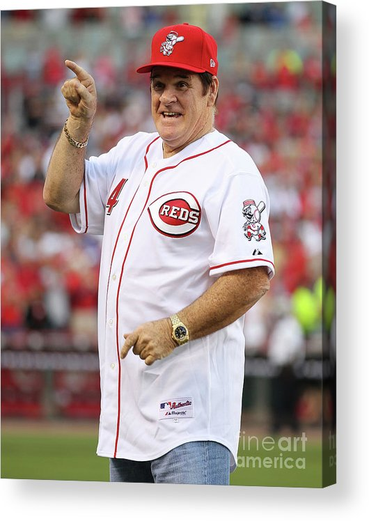 Great American Ball Park Acrylic Print featuring the photograph Pete Rose by Andy Lyons