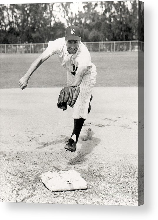 American League Baseball Acrylic Print featuring the photograph Phil Rizzuto by National Baseball Hall Of Fame Library