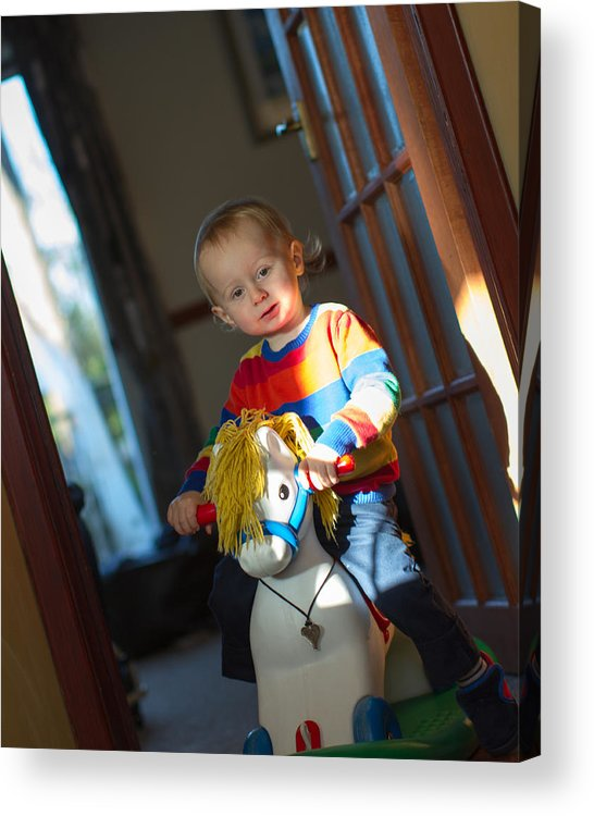 Three Quarter Length Acrylic Print featuring the photograph Rocking Horse by s0ulsurfing - Jason Swain