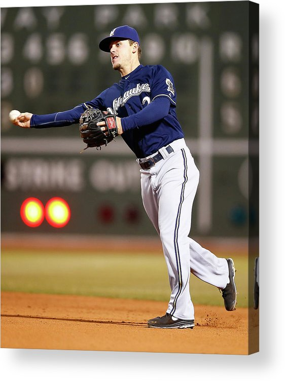 American League Baseball Acrylic Print featuring the photograph Scooter Gennett by Jared Wickerham