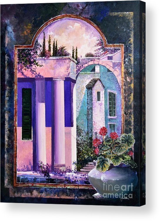 Still Life Acrylic Print featuring the painting Structures With Emotional Dimensions by Sinisa Saratlic