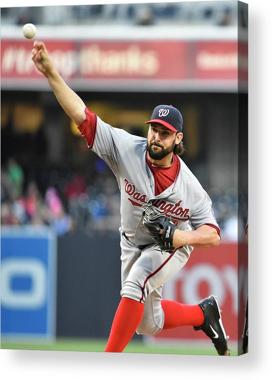 California Acrylic Print featuring the photograph Tanner Roark by Denis Poroy