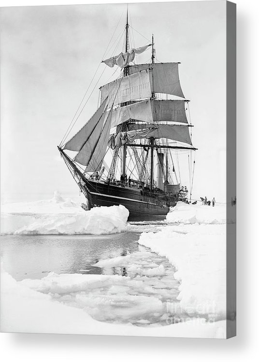 1900s Acrylic Print featuring the photograph Terra Nova in Antarctic pack ice, 1910 by Scott Polar Research Institute
