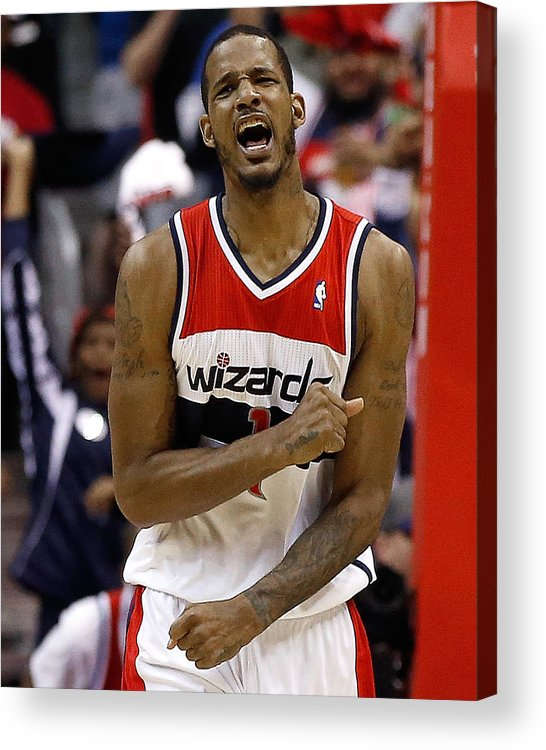 Playoffs Acrylic Print featuring the photograph Trevor Ariza by Win Mcnamee