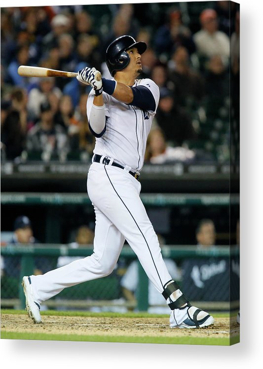 American League Baseball Acrylic Print featuring the photograph Victor Martinez by Duane Burleson