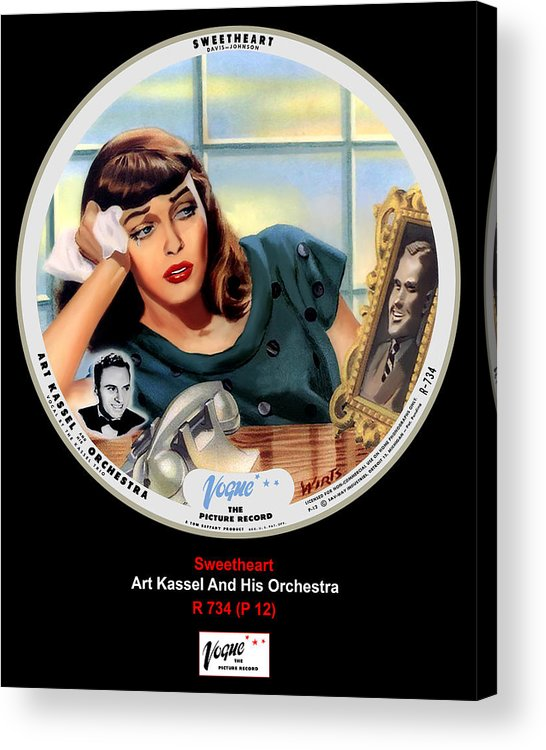 Vogue Picture Record Acrylic Print featuring the digital art Vogue Record Art - R 734 - P 12 by John Robert Beck