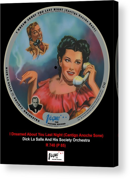 Vogue Picture Record Acrylic Print featuring the digital art Vogue Record Art - R 740 - P 85 by John Robert Beck