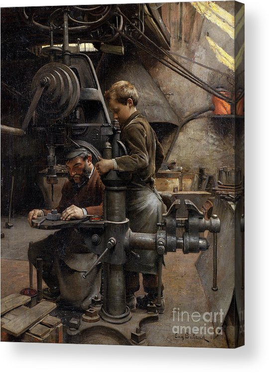 1888 Acrylic Print featuring the painting Workshop, 1888 by Eugene Buland