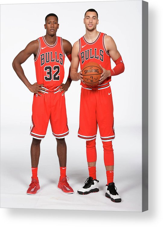 Media Day Acrylic Print featuring the photograph Zach Lavine and Kris Dunn by Randy Belice
