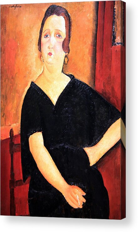 Madame Amedee Acrylic Print featuring the photograph Modigliani's Madame Amedee -- Woman With Cigarette by Cora Wandel