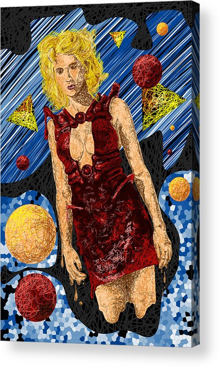 Fashion Art Acrylic Print featuring the drawing Abstraction De Richters Numero Deux by Kenal Louis