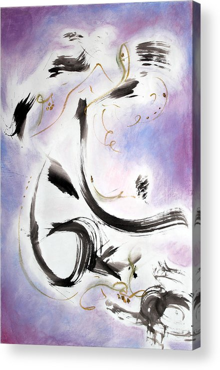 Abstract Painting Acrylic Print featuring the painting Aftermath by Asha Carolyn Young