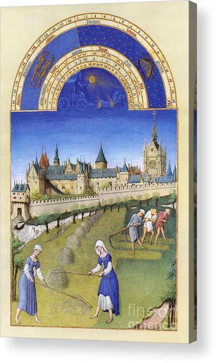 15th Century Acrylic Print featuring the photograph Book Of Hours: June by Granger