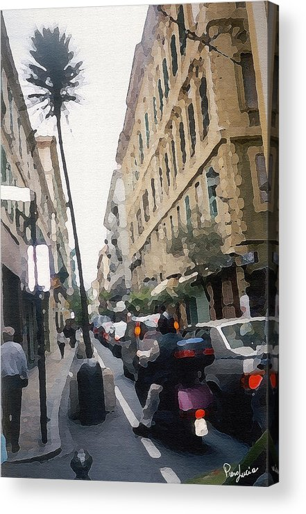 Art Acrylic Print featuring the photograph Busi Street by Piero Lucia