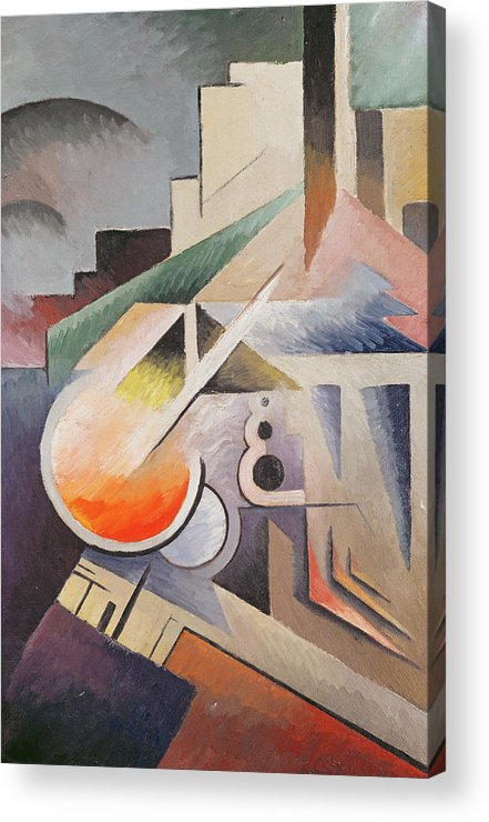 Modern Acrylic Print featuring the painting Composition by Viking Eggeling