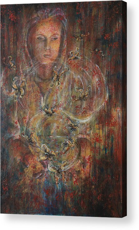 Divination Acrylic Print featuring the painting Divination by Nik Helbig