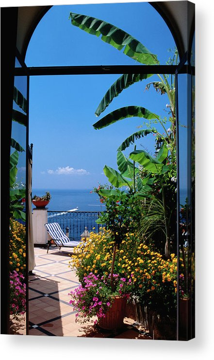 Tranquility Acrylic Print featuring the photograph Doorway To Terrace At Hotel Punta by Dallas Stribley