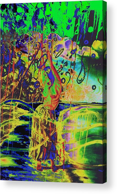 Genio Acrylic Print featuring the mixed media Erotic Devoted To To Dance And Music by Genio GgXpress