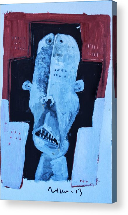 Face Acrylic Print featuring the painting Exanimus No. 7 by Mark M Mellon