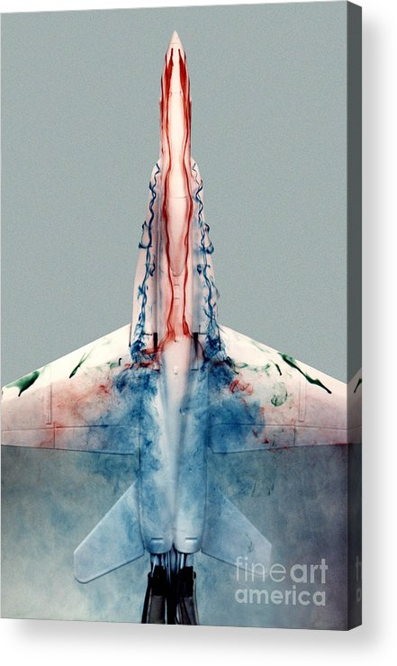 F-18 Acrylic Print featuring the photograph F18 Aerodynamics by Nasa Dfrc