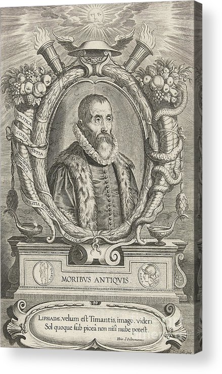 History Acrylic Print featuring the photograph Justus Lipsius, Belgian Scholar by Photo Researchers